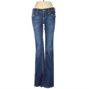 Rock Revival Flap Pocket Flare Blue Jeans Sz. 27